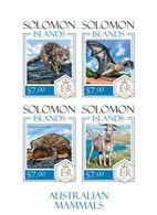 Salomon 2014, Animals Of Australia, Bat, Goat, 4val In BF IMPERFORATED - Sellos
