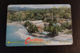 Télécarte St Saint Lucia Caribbean Phone Card EC 10 Dollars - Télécartes