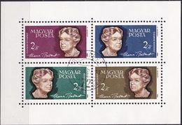 1964, Ungarn, 2018/21 Block 41  Used Oo, A, Eleanor Roosevelt.. - Blocks & Sheetlets