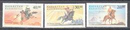 Kazakhstan - 1998 - National Epos - Horses - Warriors - MNH - Stamps