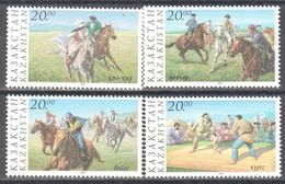 Kazakhstan - Sport - Horses - Wrestling - 1997 - MNH - Stamps