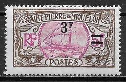 1927 St.Pierre & Miquelon MLH STAMP (Michel # 126I) CV €6.00 - Ungebraucht