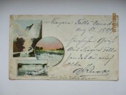 CANADA NIAGARA FALLS 1899 TO RUSSIA  ST. PETERSBURG  , OLD POSTCARD   , O - Chutes Du Niagara