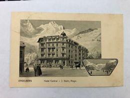 SWITZERLAND - OBWALDEN - ENGELBERG - HOTEL CENTRAL - POSTED 1918 - POSTCARD - OW Obwald