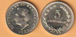 El Salvador 5 Centavos 1977 K-N-Zk  KM Nr.149b ( D2/43 ) - El Salvador