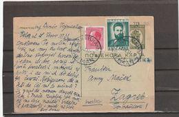 Bulgaria POSTAL CARD IHTIMAN TO Croatia 1941 - 1909-45 Royaume