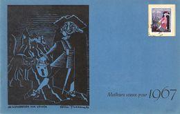 """Carte """"dé Schwoarzen Vun Veinen"""" 1966 Avec Signature De Foni Tissen - Cartes Commémoratives"""