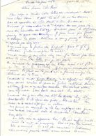 Lettre Manuscrite 1980 Simone Rene Massai Villaz Roger Bardy Courbevoie Bluzat Malakoff Raganot - Manuscrits