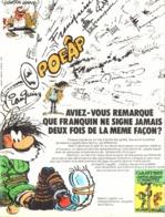 """PUB ALBUM   GASTON LAGAFFE """" GAFFES-BEVUES Et BOULETTES  """"   1974 ( 1 ) - Objetos Publicitarios"""
