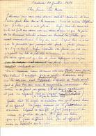 Lettre Manuscrite 1980 Simone Pierre Toret Villaz Dorita Marthe - Manuscrits