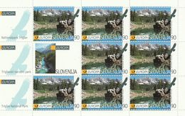 Slovenia EUROPA National Park Triglav Lakes Moutnain (birds) Small Sheet 1999 MNH** - Slovénie