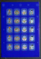 Aland 2002 Christmas Labels Sheetlet Of 20, MNH (**) (lot  33) - Ålandinseln