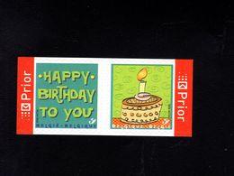 1037210182 SCOTT 2184 2185 POSTFRIS MINT NEVER HINGED EINWANDFREI - PAIR HAPPY BIRTDAY AND BIRTHDAY CAKE - Unused Stamps