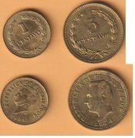 El Salvador 1 Centavo 1981+3 Centavos 1974 Me  KM Nr. A154+148 ( D3/70 ) - El Salvador