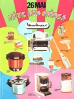 "PUB ELECTROMENAGER   "" MOULINEX  ""   1974 ( 1 ) - Advertising"