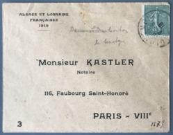 France N°130 Sur Lettre ALSACE LORRAINE - (W1633) - Marcophilie (Lettres)
