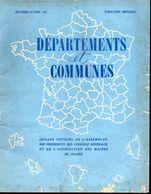 Revue Départements Et Communes  Des Présidents Des Conseils Généraux Et Maires De Septembre  1963 - Periódicos