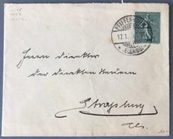 France N°130 Sur Lettre ALSACE LORRAINE - TAD PFAFFENHOFEN - (W1634) - Marcophilie (Lettres)