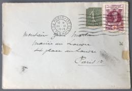 France N°130 Sur Lettre Locale (Paris) 1919 + Vignette Croix-Rouge - (W1636) - Marcophilie (Lettres)