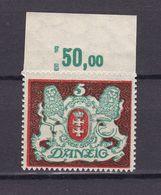 Danzig - 1922 - Michel Nr. 87 Y P OR - Postfrisch - 30 Euro - Dantzig