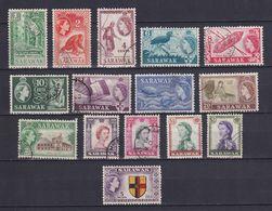SARAWAK 1955, SG# 188-202, CV £25, Birds, Ships, Animals, Used - Sarawak (...-1963)