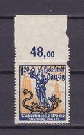 Danzig - 1921 - Michel Nr. 92 P OR - Postfrisch - 30 Euro - Danzig
