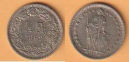 Schweiz  1/2 Franken 1969 K-N  KM Nr. 23 ( D1/76 ) - Suisse