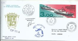 YT 215 Marion Dufresne I Et II - Posté à Bord - Transport Par HéliRéunion - Port Aux Français - Kerguelen - 15/11/1997 - French Southern And Antarctic Territories (TAAF)