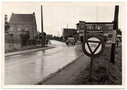 PUURS 1955 Kruispunt Weg Mechelen Dendermonde & Breendonck Puurs - Auto Cafe Moortgat Palm Krak Pils - Foto Photo - Puurs