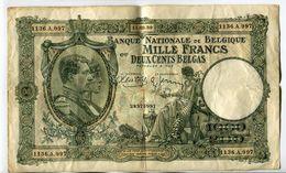 Billet De 1000 Fr Ou 200 Belgas Du 11/09/1939 - [ 2] 1831-... : Koninkrijk België