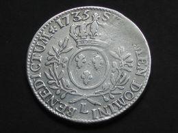 Louis XV  - Ecu 1733 L  Aux Branches D'olivier     **** EN ACHAT IMMEDIAT  **** - 987-1789 Royal