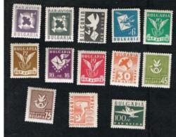 BULGARIA -  SG 597.609 AIR  - 1946 PAR AVION  (COMPLET SET OF 13)  -   UNUSED* - Poste Aérienne