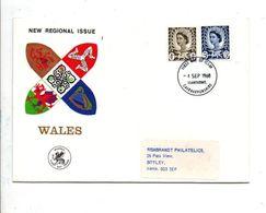 GB FDC 1968 TIMBRES REGIONAUX - GALLES - 1952-1971 Em. Prédécimales
