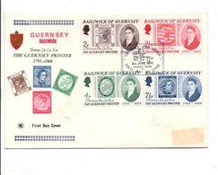 GUERNESEY FDC 1971 THOMAS DE LA RUE GRAVEUR DE TP - Guernsey