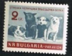 BULGARIA -  SG 1257 AIR  - 1961 SPACE FLIGHT: SPACE DOGS  -  MINT** - Poste Aérienne