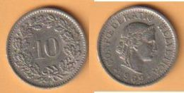 Schweiz  10 Rappen 1969B K-N  KM Nr. 27 ( D1/77 ) - Suisse