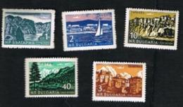 BULGARIA -  SG 1297.1301 AIR  - 1962  VIEWS (COMPLET SET OF 5)  -  MINT** - Poste Aérienne