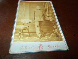B732  Foto Cartonata Uomo Con Barba A.rizzi Cuneo Cm16,5x5,5circa - Photography