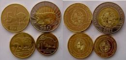 URUGUAY S 2011-2012 NUOVA SERIE 4 MONETE CON BIMETALLICA 10$   5$ 2$ 1$ FDC UNC - Uruguay