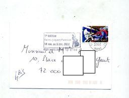 Lettre Flamme Reims Festival Jazz - Marcophilie (Lettres)