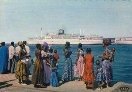 DAKAR (A.O.F.): Départ D'un Paquebot - Senegal
