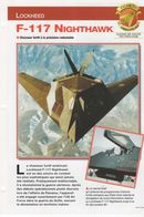 Fiche Collection Avions Du Monde - Lockheed F 117 Nighthawk (n°10) - Transporto