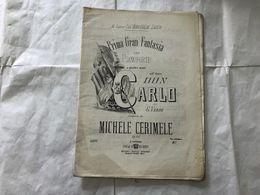 SPARTITO MUSICALE DON CARLO GIUSEPPE VERDI COMPOSTO DA MICHELE CERIMELE. - Partituras