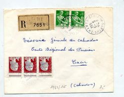 Lettre Recommandée Sable Sur Sarthe Sur Decaris Moisson - Marcophilie (Lettres)