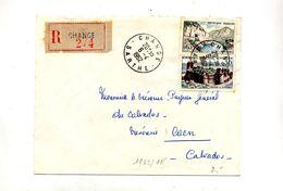 Lettre Recommandée Change Sur Fougeres Sioule - Marcophilie (Lettres)
