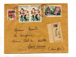 Lettre Recommandée Paris 68 Sur Gobelins Laval - Marcophilie (Lettres)