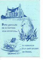 BEL ENCART DE NAISSANCE BOURG EN BRESSE 1988 - Nacimiento & Bautizo