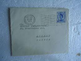 UNITED  KINGDOM 1955 HACKNEY COVERS POSTMARK ATHENS AND SLOGAN  2 SCAN - Grande-Bretagne
