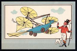 "TINTIN / Chromo ""Voir Et Savoir"" Par Hergé : Aviation Origine N° 1 - Edition CASTERMAN - Other"