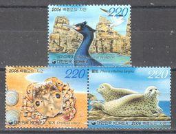South Korea - Wildlife Of Baengnyeongdo - Spotted Seal - Pelagic Cormorant - Orithyia Sinica - MNH - Stamps